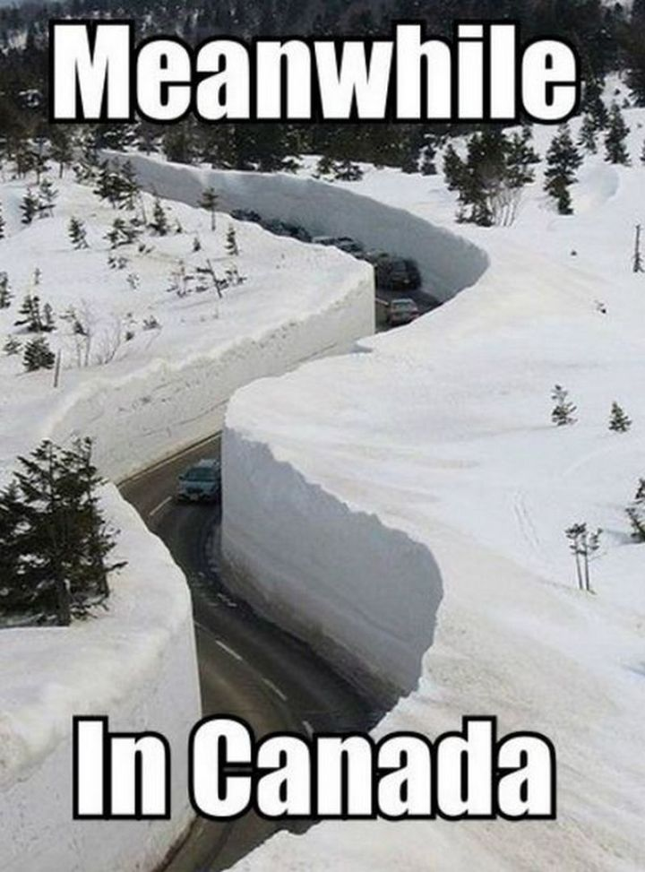 "55 Funny Winter Memes - ""Meanwhile in Canada..."""