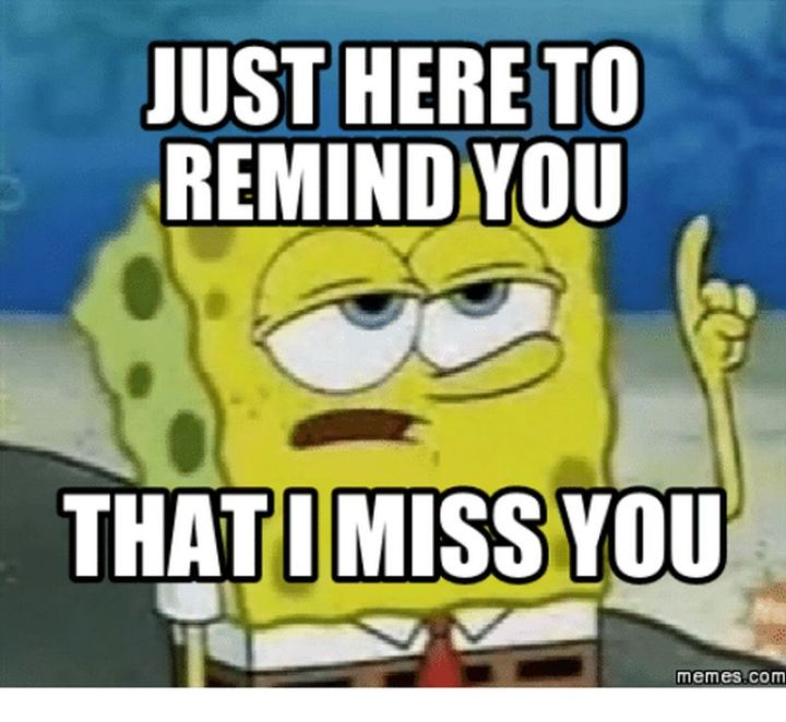 """101 I miss you memes - """"Just here to remind you that miss you."""""""