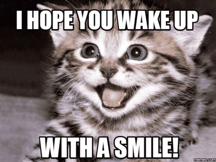 """101 Smile Memes - """"I hope you wake up with a smile!"""""""