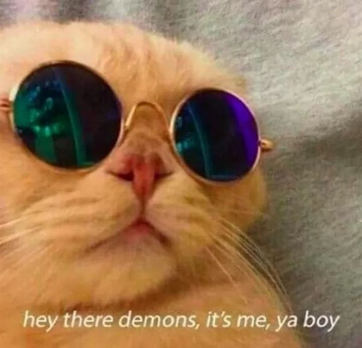 "61 Depression Memes - ""Hey there demons, it's me, ya boy."""