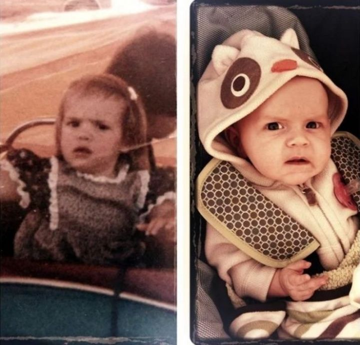 """35 Then and now pictures - """"My wife and my daughter."""""""