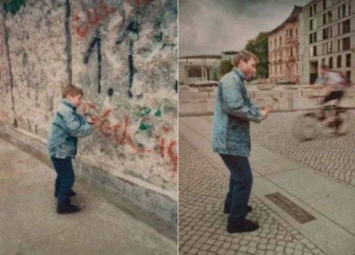 """35 Then and now pictures - """"The Berlin Wall then and now pictures."""""""