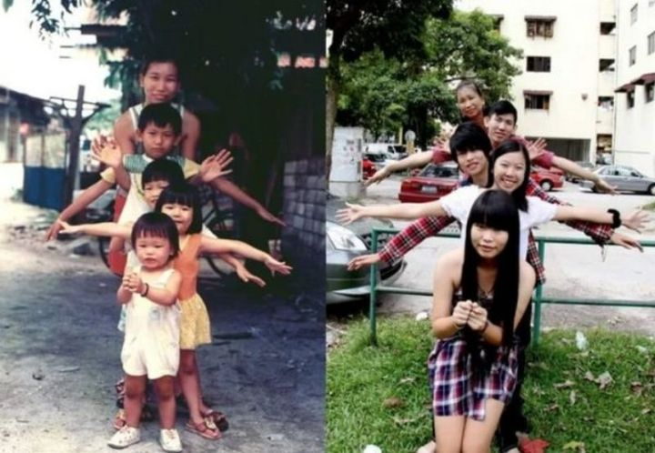 """35 Then and now pictures - """"My family, 20 years apart!"""""""