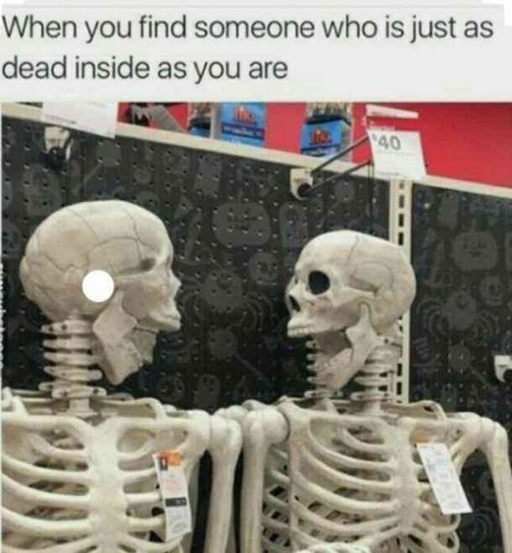 "65 Funny Friend Memes - ""When you find someone who is just as dead inside as you are."""
