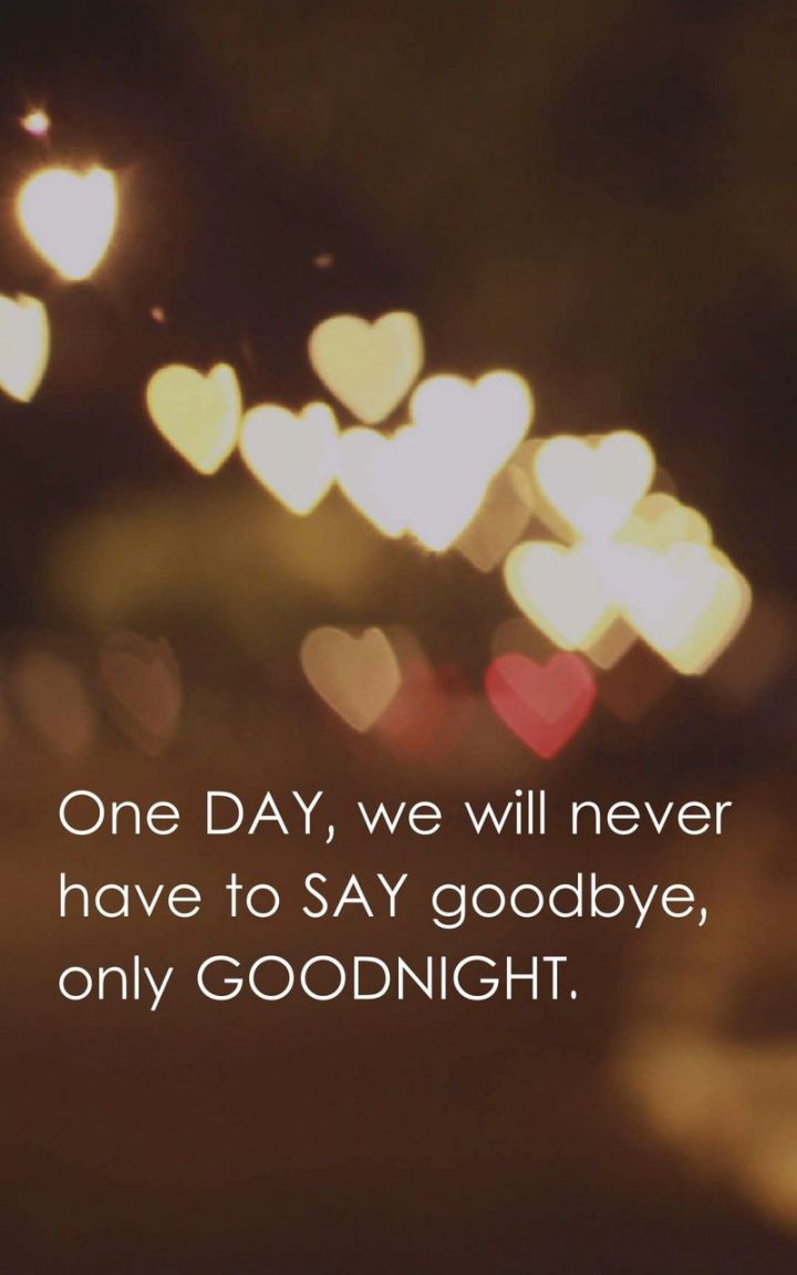 """51 Good Night Images and Quotes - """"One day, we will never have to say goodbye, only goodnight."""""""