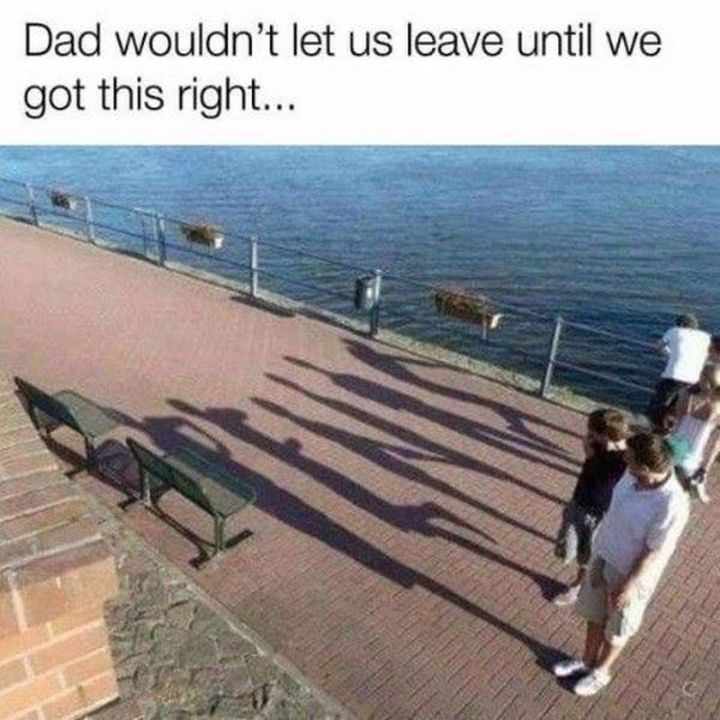 "67 Hilarious Memes - ""Dad wouldn't let us leave until we got this right..."""