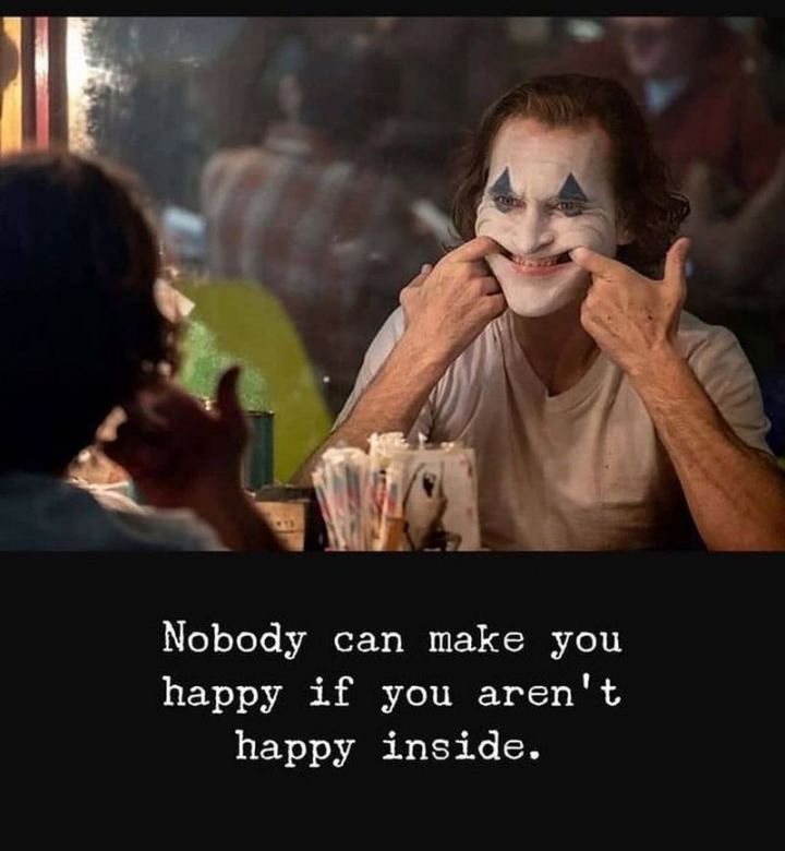 "61 Life Quotes with Beautiful Images - ""Nobody can make you happy if you aren't happy inside."""