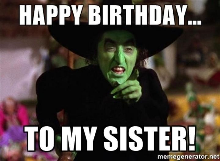 "91 Sister Birthday Memes - ""Happy birthday...To my sister!"""