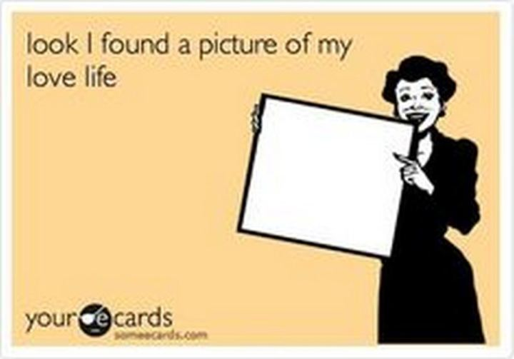 "67 Funny Single Memes - ""Look I found a picture of my love life."""