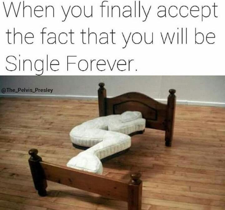 "67 Funny Single Memes - ""When you finally accept the fact that you will be single forever."""
