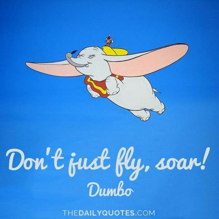 """61 Inspirational Disney Quotes - """"Don't just fly, soar."""" - Dumbo"""