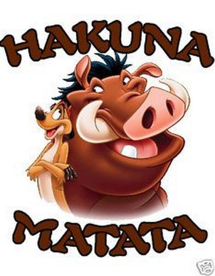 """61 Inspirational Disney Quotes - """"Hakuna Matata."""" - Timon and Pumbaa"""