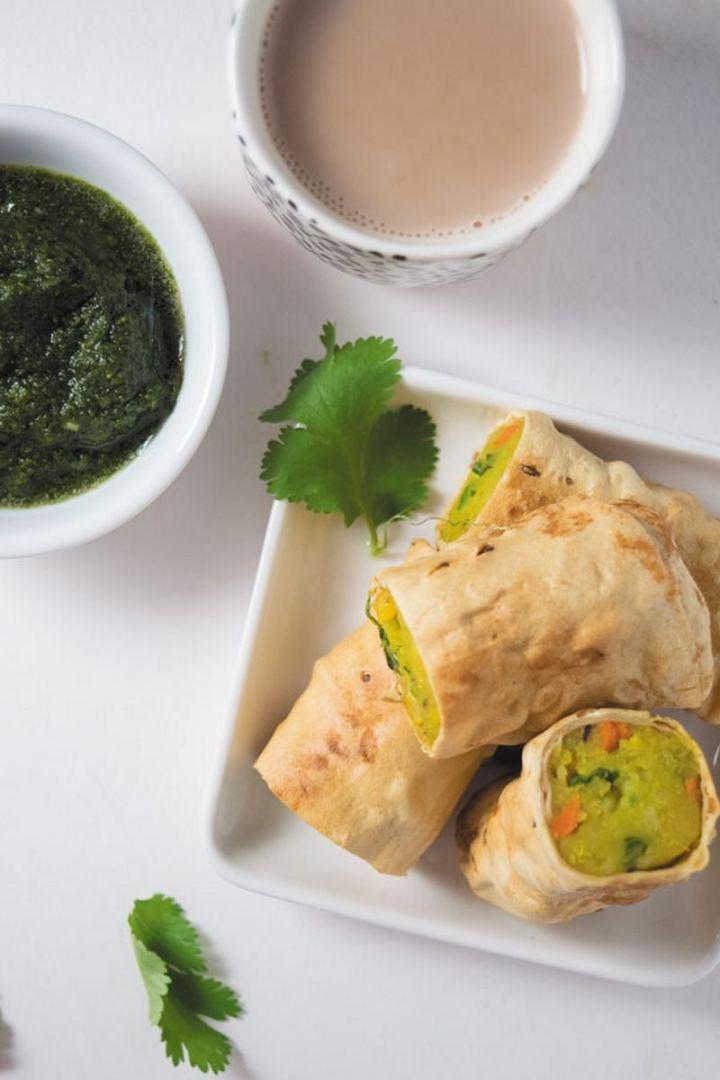 35 Indian Appetizer Recipes - Crispy Papad Rolls.