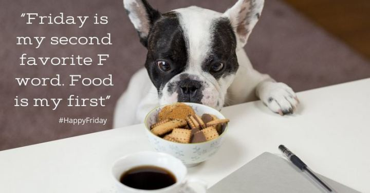 """47 Friday Quotes - """"Friday is my second favorite F word. Food is my first"""" - Anonymous"""