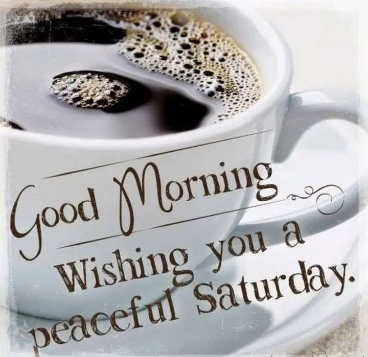 "101 Saturday Memes - ""Good morning. Wishing you a peaceful Saturday."""