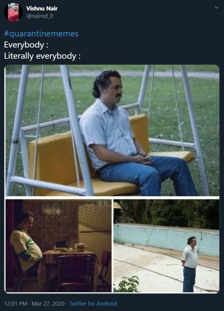 "53 Coronavirus Memes - ""Quarantine Memes- Everybody: Literally everybody:"""