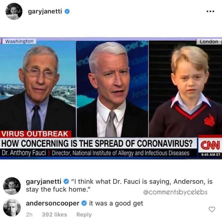 """53 Coronavirus Memes - """"How concerning is the spread of coronavirus? I think what Dr. Fauci is saying, Anderson, is stay the [censored] home. It was a good get."""""""