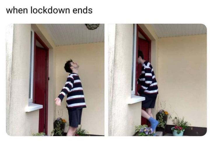 "75 Introvert Memes - ""When lockdown ends."""