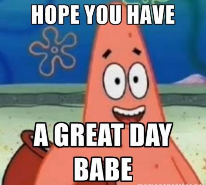"101 ""Have a Great Day"" Memes - ""Hope you have a great day babe."""