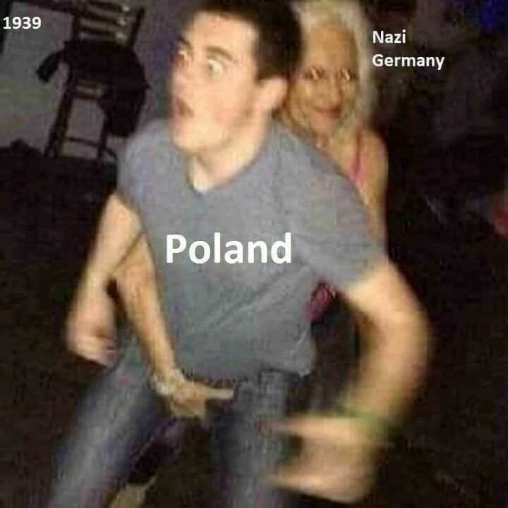 "55 Funny History Memes - ""Nazi Germany invading Poland in 1939."""