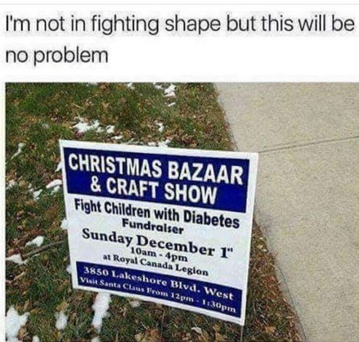 """""""I'm not in fighting shape but this will be no problem."""""""