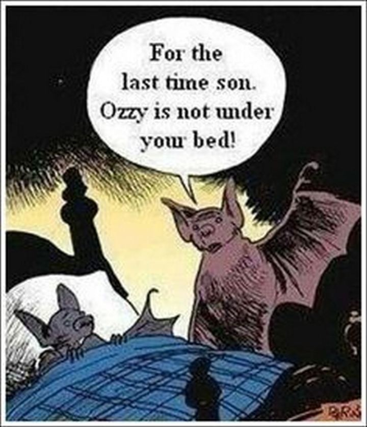 """""""For the last time son. Ozzy is not under your bed!"""""""