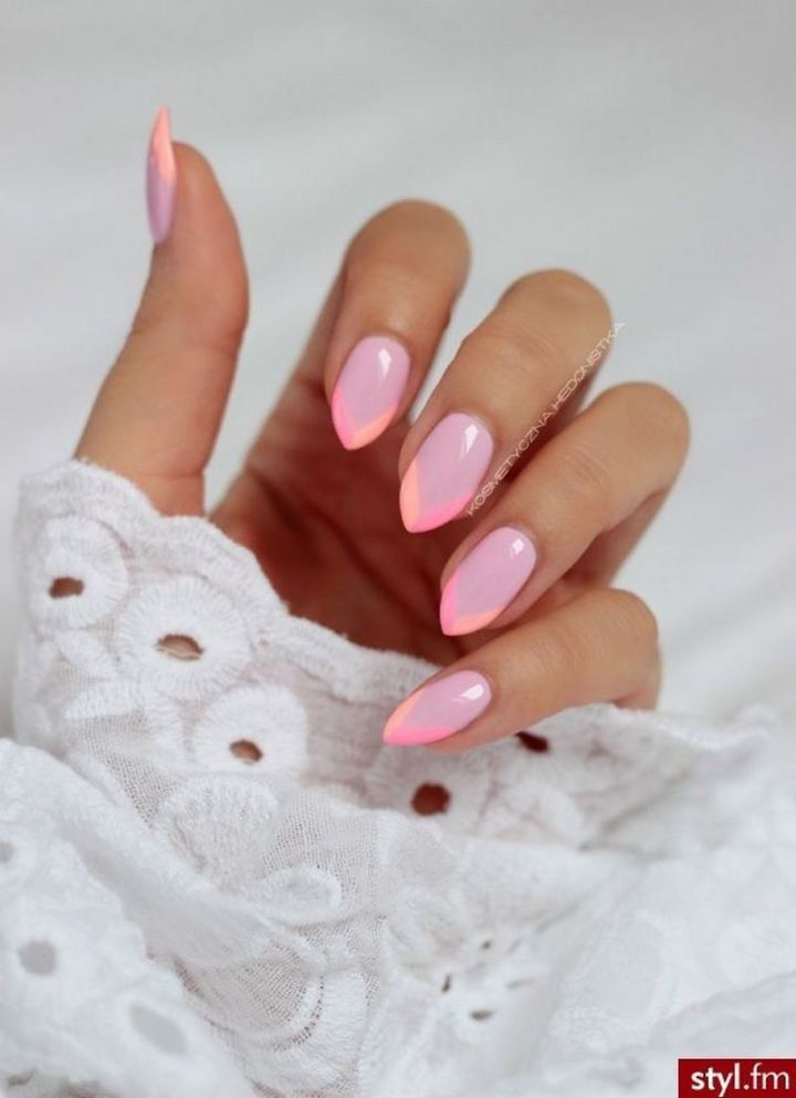 How cute are these lovely almond nails?
