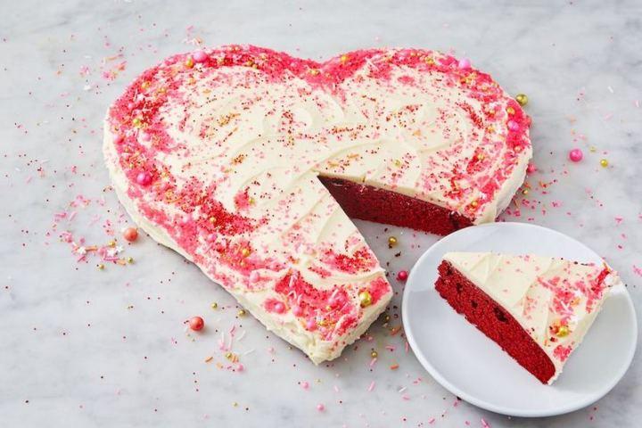 Heart-Shaped Cake.