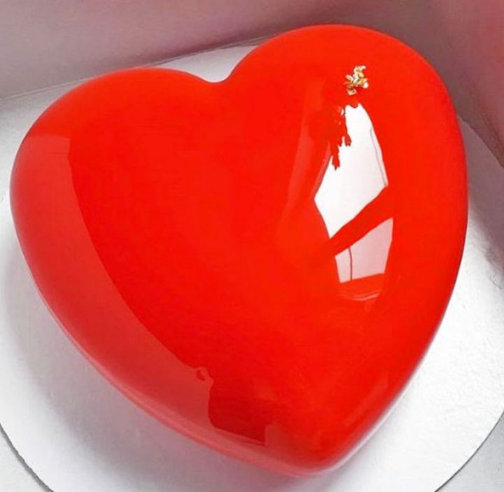 Valentine's Day Mirror Glaze Heart