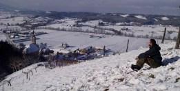 Ausblick St. Hans im Schnee.