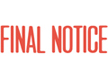 1014 – FINAL NOTICE Stock Stamp