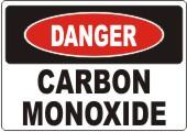 Danger Carbon Monoxide safety sign