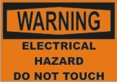 Warning Electrical Hazard Do Not Touch safety sign