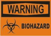 Warning Biohazard safety sign