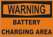 Warning Battery Charging Area safety sign