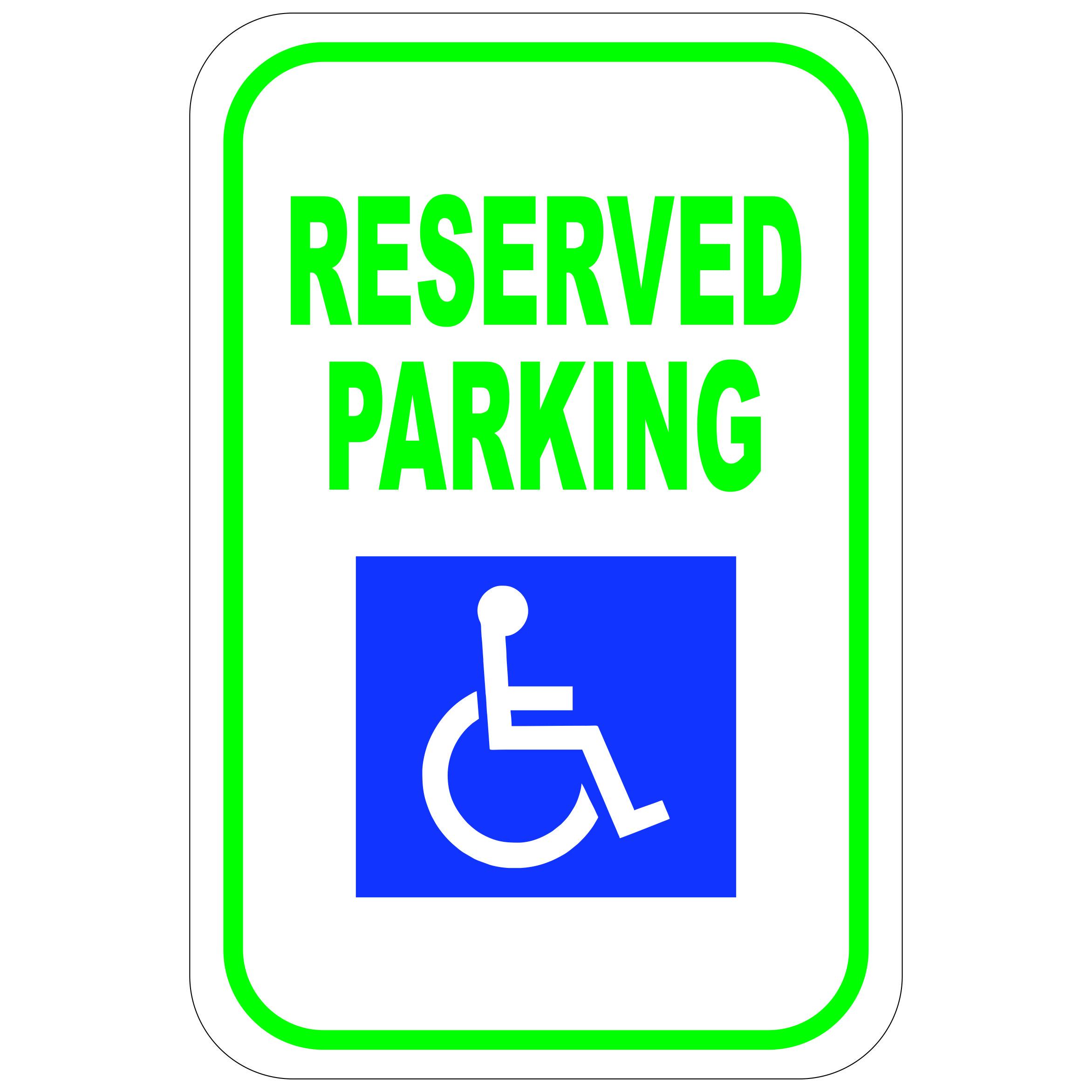handicap reserved parking aluminum