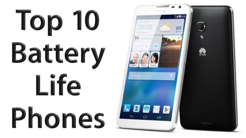 See the 10 phones with long lasting battery