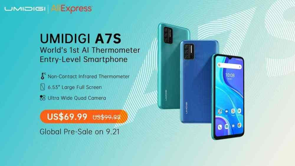 UMIDIGI A7S WITH AI THERMOMETER TO BE RELEASEED SOON