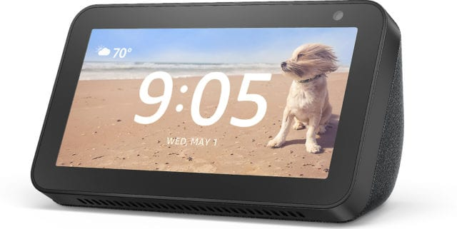 The Amazon Echo Show 8 connects to Alexa to give you rich stereo sound with vivid visuals on an 8-inch HD screen. It comes with on-device privacy controls, a larger screen with better