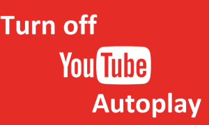 Turn off YouTube Autoplay Video