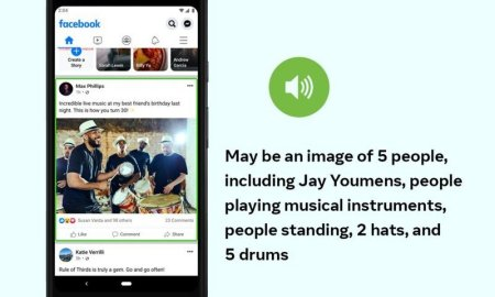 Facebook is using AI to improve the photo experience for visually impaired users