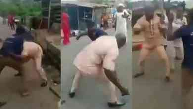 Photo of Two Men Fight Over A Woman In The Middle Of The Road (Watch Video)