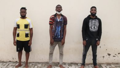 Photo of 3 brothers arrested for running a fake foundation using the name of force spokesperson, Frank Mba
