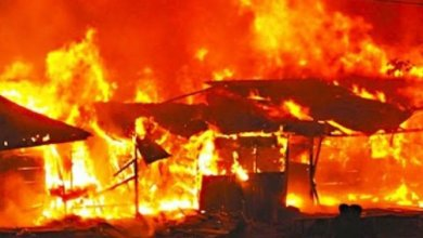 Photo of A Multi Million Naira Properties Destroyed As Fire Razes 11 Shops In Lagos (Videos)