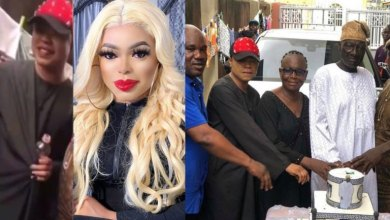 Photo of Photos Of Bobrisky's Father Looking Unhappy At His Birthday Party Causes Stir On Social Media (PHOTOS)