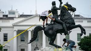 Photo of Four men charged for trying to tear down Andrew Jackson statue in DC