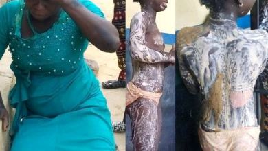 Photo of Aunt who poured hot water on her niece is finally arrested after absconding following the act