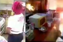 Photo of FUNNY: Gas explodes at Big Brother's kitchen in Cameroon (Watch Video)