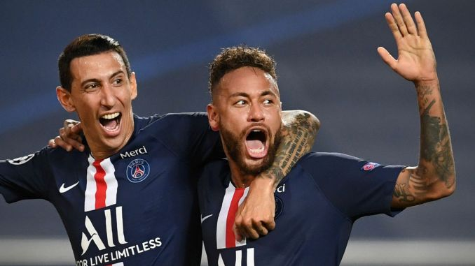 PSG ease into Champions League final after 3-0 win against Leipzig.  Marquinhos set Thomas Tuchel's side on their way, heading home Angel Di Maria's free-kick (13) before Di Maria doubled PSG's lead three minutes before the break following a mistake by Peter Gulacsi.