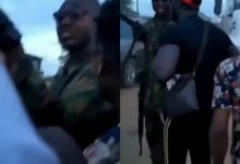 Photo of #EndSARS : Brave protesters confront soldier who allegedly shot at them in Agbara (Video)